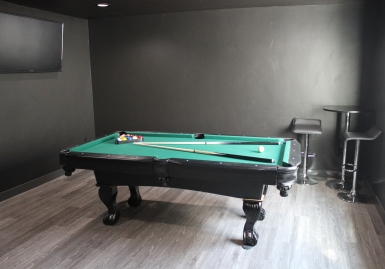 After: basement pool nook