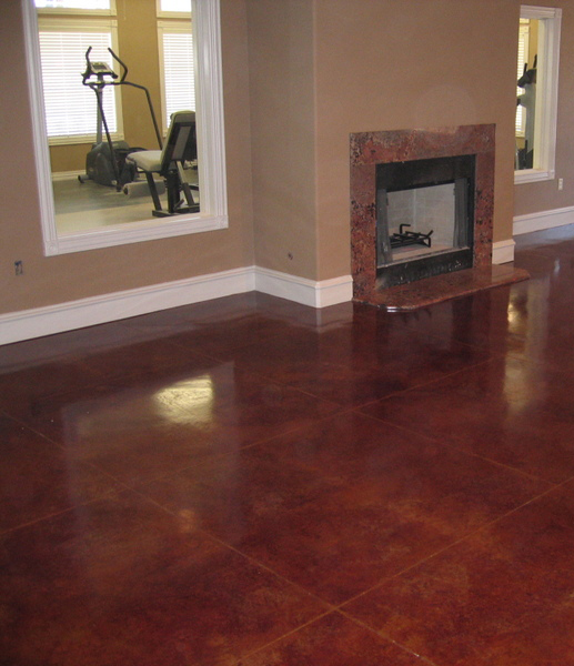 Example of interior with polished concrete floor.