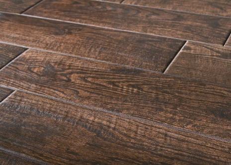 Tile flooring that looks like hardwood flooring.