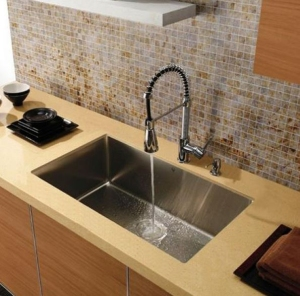 Deep stainless steel sink