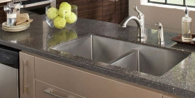 Divided tub, stainless steel sink