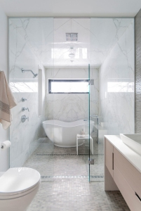 Custom bathroom with shower room