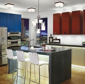 Custom kitchen with lighting