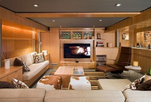 Sample basement media room design