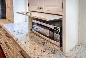 Microwave in custom cabinet
